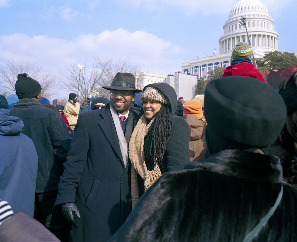 Couple after the ceremony, Inauguration Day, January 20th, 2009, Washington DC