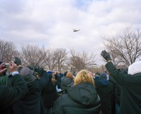 Waving Goodbye to George Bush, Inauguration Day, January 20th, 2009, Washington DC