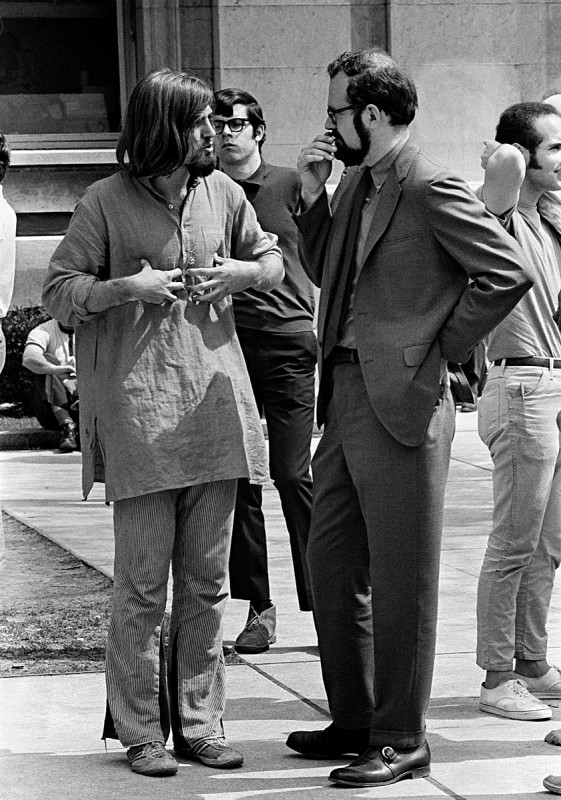 Student and Professor, New Haven Green, May Day, 1970