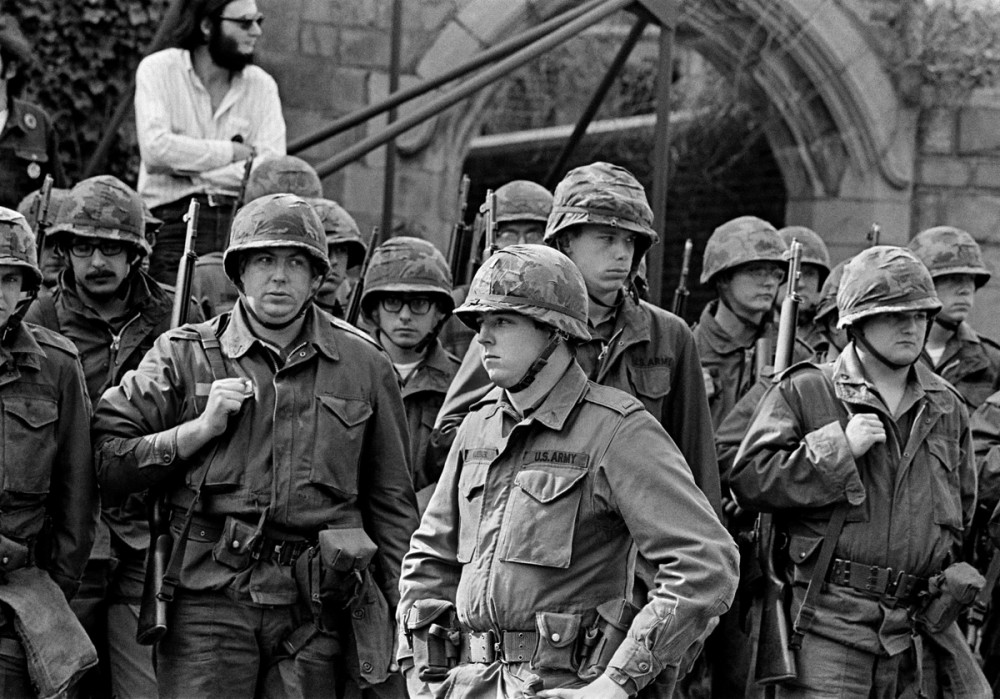 National Guard, Yale Campus, May Day, 1970