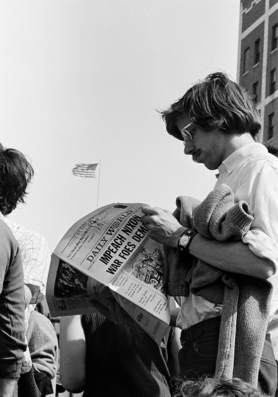 The Daily World, New Haven Green, May Day 1970