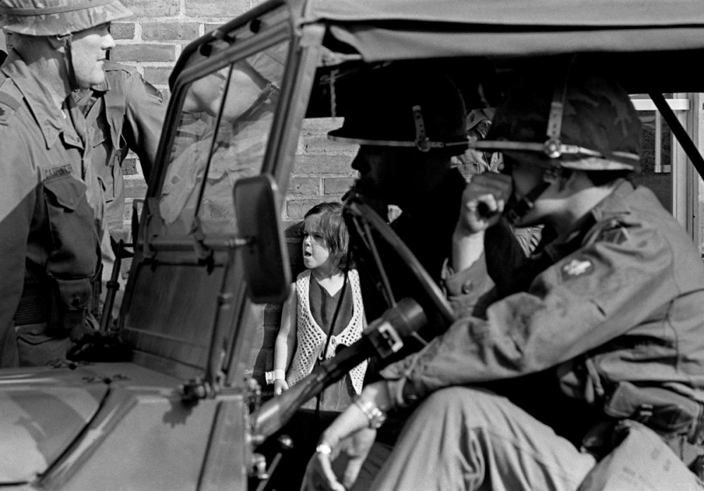 National Guard and Girl, York Street, New Haven, Connecticut, May Day 1970