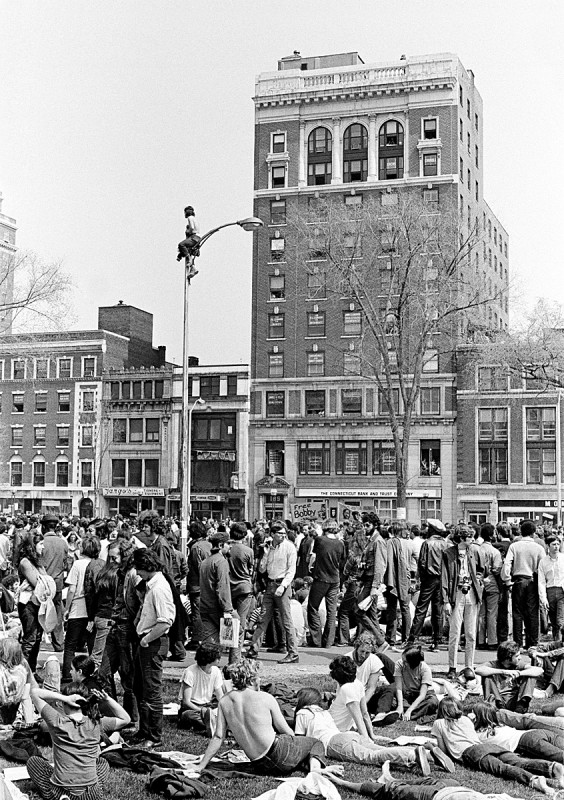 Waiting for Speeches, New Haven Green, May Day, 1970