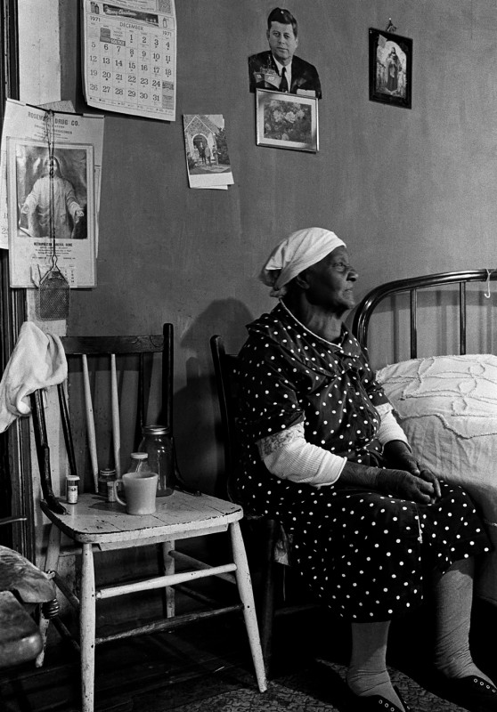 Woman in her Bedroom, Halifax County, December 1971