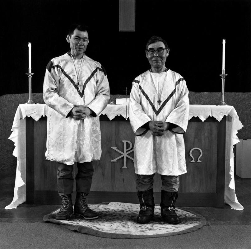 Deacons, St. Joseph's Catholic Church, Tununak, Alaska, April 1976