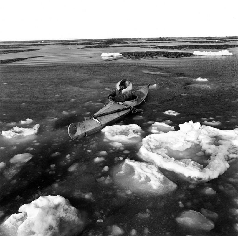 Seal Hunting, Bering Sea at Tununak, Alaska, April 1975