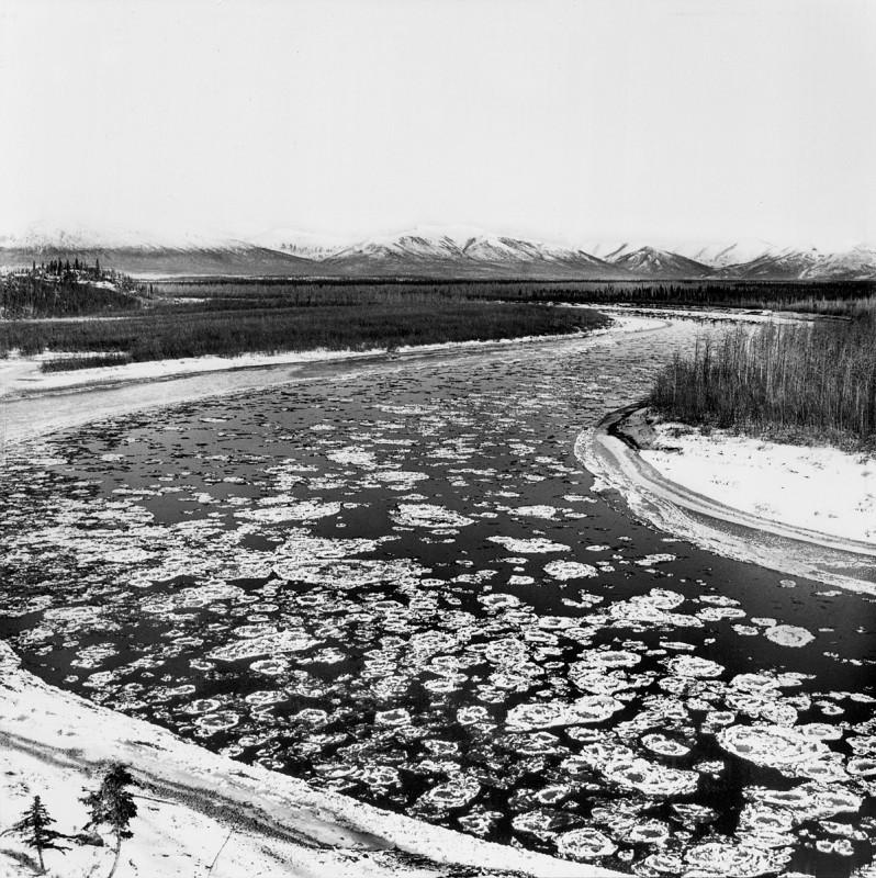 Freeze-Up, Kobuk River at Shungnak, Alaska, September 28, 1973