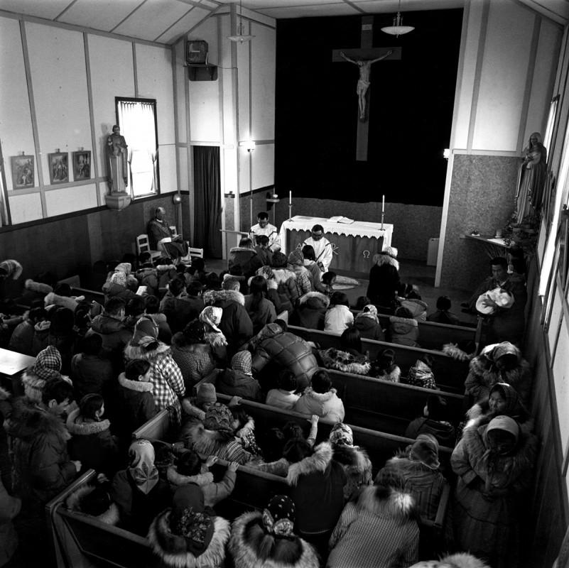 St. Joseph's Catholic Church, Tununak, Alaska, April 1976