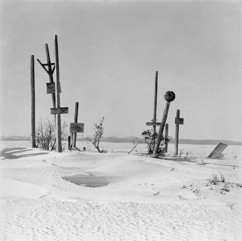 Graveyard, Selawik, Alaska, April 1974