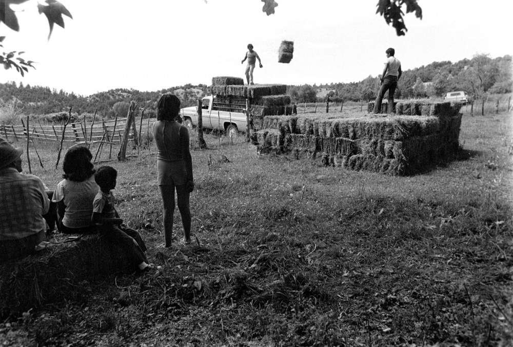 Putting away the hay, El Valle, New Mexico, 1979