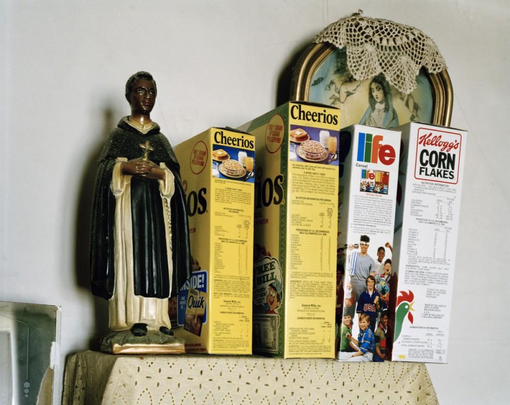St. Martin de Porres and the Virgin Mary, Rosenda Medina's house, Penasco, New Mexico, December 1986