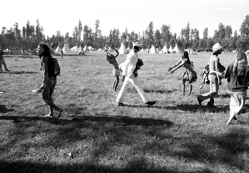 Departure day, The Rainbow Gathering, Alpine Arizona, July 1979
