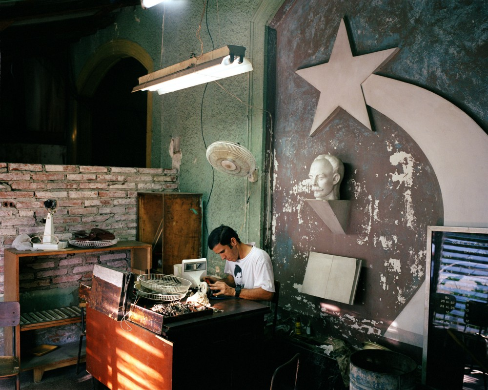 Small appliance repair shop, Calles 19 and 8, Vedado, Havana, October 12, 2002