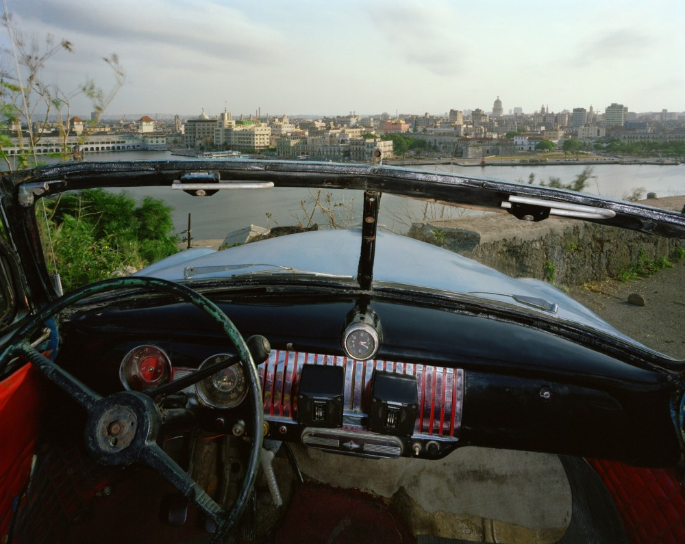 View of Havana from El Cristo de Casa  Blanca, looking south from Ricardo Moya Silveira's 1951 Chevrolet, May 24, 1998