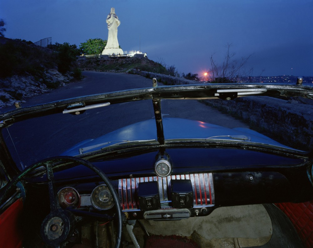 El Cristo de Casa Blanca, looking west from Ricardo Moya Silveira's 1951 Chevrolet, May 24, 1998, Havana, Cuba.