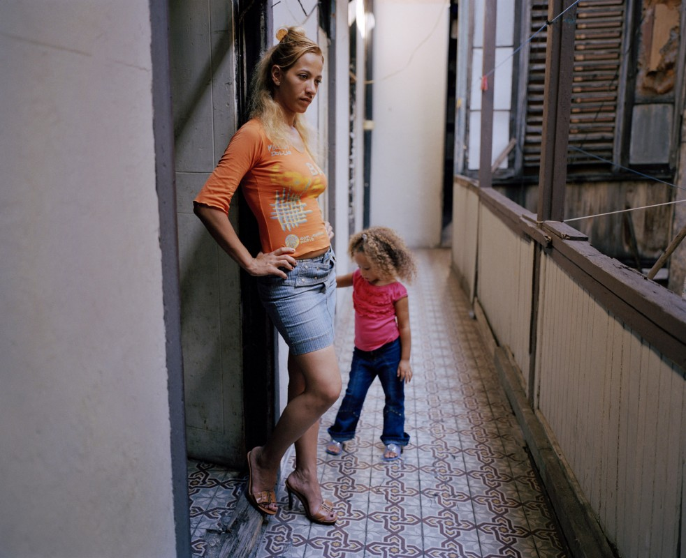 Woman and daughter, October 2003