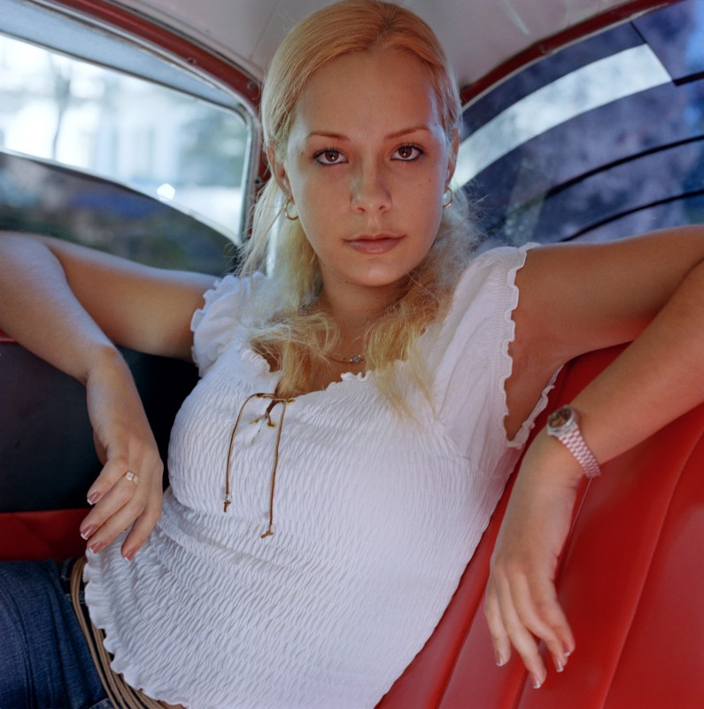 Blond-haired woman, October 2003