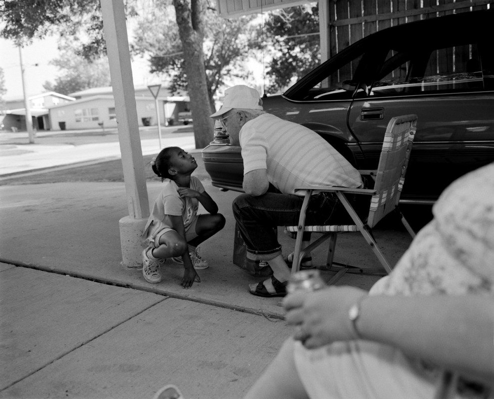 Bill Biederman's carport, Hope Meadows, Rantoul, Illinois 2001