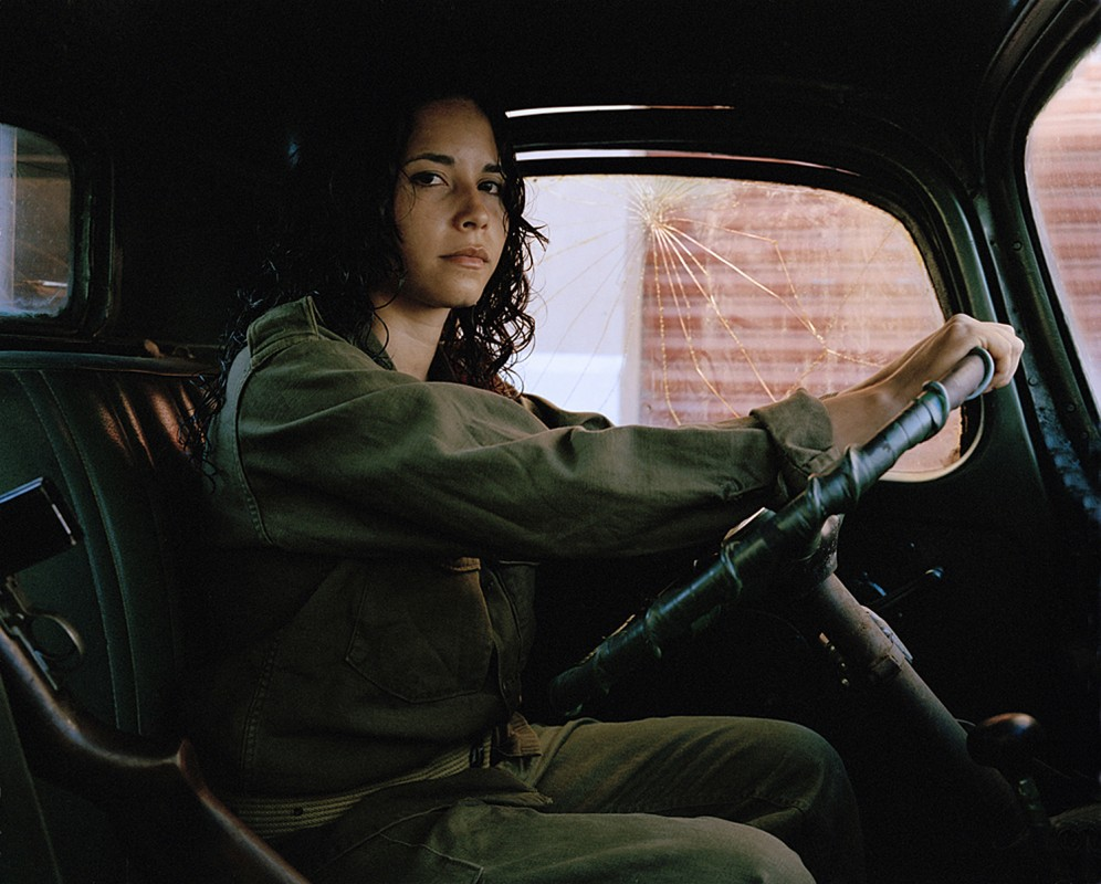 An extra from the Mexican town of Campeche plays a rebel soldier for Steven Soderbergh's CHE.  Photograph by Alex Harris.
