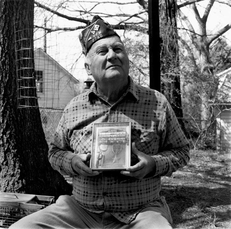 Glenn Pursselley, seventy-six, April 1992, Durham, N.C.,  retired Air Force sergeant, P.O.W.